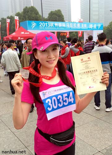 跑过风景跑过你——2013杭州国际马拉松开跑